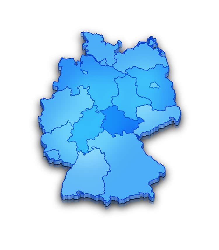 Deutschlandkarte , alle Bundesländer