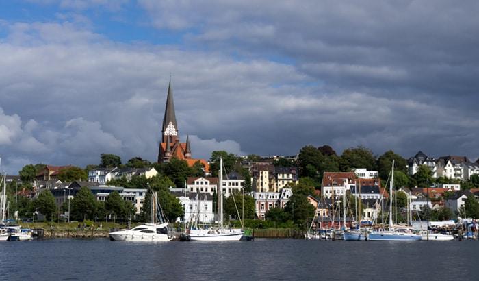 Flensburg in Schleswig Holstein